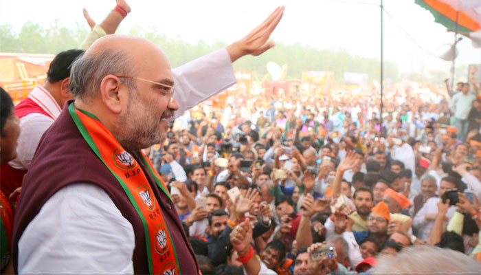 Image result for Amit Shah in rally