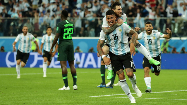 Argentina beat Nigeria 2-1