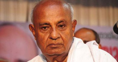 Deve Gowda is angry over not inaugurating bridge